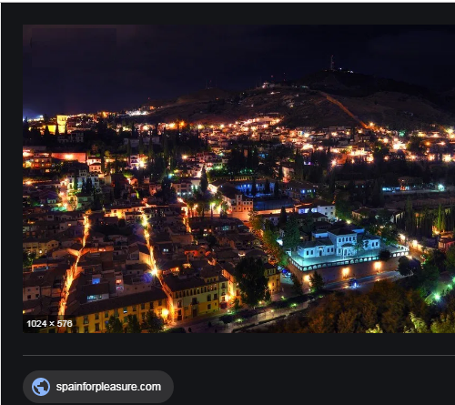 Granada at night off web